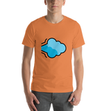 Emoji T-Shirt Store | Dashing Away emoji t-shirt in Orange
