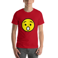 Emoji T-Shirt Store | Hushed Face emoji t-shirt in Red