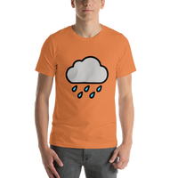 Emoji T-Shirt Store | Cloud With Rain emoji t-shirt in Orange