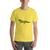 Emoji T-Shirt Store | Lizard emoji t-shirt in Yellow