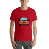 Emoji T-Shirt Store | Oncoming Automobile emoji t-shirt in Red