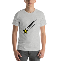 Emoji T-Shirt Store | Shooting Star emoji t-shirt in Light gray