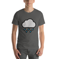 Emoji T-Shirt Store | Cloud With Rain emoji t-shirt in Dark gray
