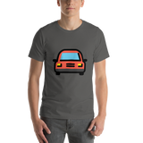Emoji T-Shirt Store | Oncoming Automobile emoji t-shirt in Dark gray