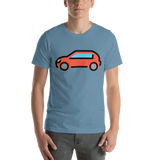 Emoji T-Shirt Store | Automobile emoji t-shirt in Blue