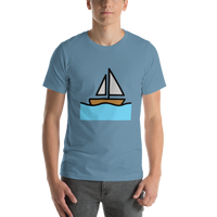 Emoji T-Shirt Store | Sailboat emoji t-shirt in Blue