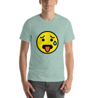 Emoji T-Shirt Store | Hot Face emoji t-shirt in Green