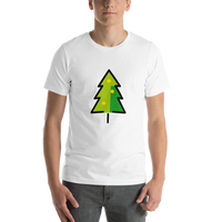 Emoji T-Shirt Store | Christmas Tree emoji t-shirt in White