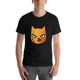 Emoji T-Shirt Store | Cat With Wry Smile emoji t-shirt in Black