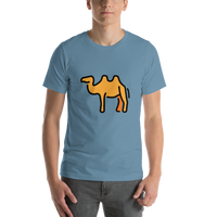 Emoji T-Shirt Store | Two-Hump Camel emoji t-shirt in Blue