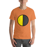 Emoji T-Shirt Store | Last Quarter Moon emoji t-shirt in Orange