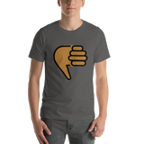 Emoji T-Shirt Store | Thumbs Down, Medium Dark Skin Tone emoji t-shirt in Dark gray