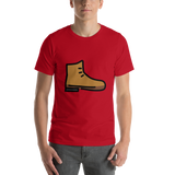 Emoji T-Shirt Store | Hiking Boot emoji t-shirt in Red