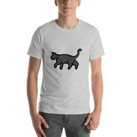 Emoji T-Shirt Store | Black Cat emoji t-shirt in Light gray