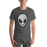 Emoji T-Shirt Store | Alien emoji t-shirt in Dark gray