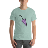 Emoji T-Shirt Store | Closed Umbrella emoji t-shirt in Green