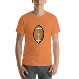 Emoji T-Shirt Store | American Football emoji t-shirt in Orange