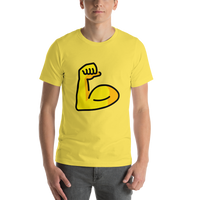 Emoji T-Shirt Store | Flexed Biceps emoji t-shirt in Yellow