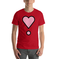 Emoji T-Shirt Store | Heart Exclamation emoji t-shirt in Red