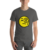 Emoji T-Shirt Store | Face With Monocle emoji t-shirt in Dark gray