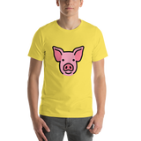 Emoji T-Shirt Store | Pig Face emoji t-shirt in Yellow