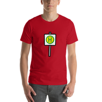 Emoji T-Shirt Store | Bus Stop emoji t-shirt in Red