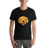Emoji T-Shirt Store | Dog Face emoji t-shirt in Black