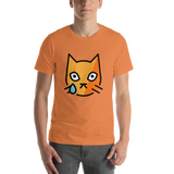 Emoji T-Shirt Store | Crying Cat emoji t-shirt in Orange