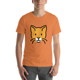 Emoji T-Shirt Store | Cat Face emoji t-shirt in Orange
