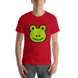 Emoji T-Shirt Store | Frog emoji t-shirt in Red