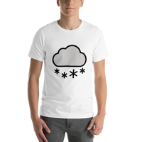 Emoji T-Shirt Store | Cloud With Snow emoji t-shirt in White