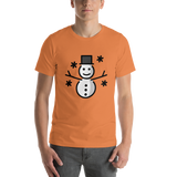 Emoji T-Shirt Store | Snowman emoji t-shirt in Orange