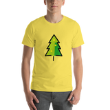 Emoji T-Shirt Store | Christmas Tree emoji t-shirt in Yellow
