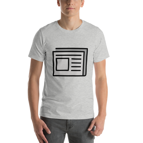 Emoji T-Shirt Store | Newspaper emoji t-shirt in Light gray
