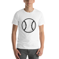 Emoji T-Shirt Store | Baseball emoji t-shirt in White