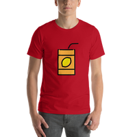 Emoji T-Shirt Store | Beverage Box emoji t-shirt in Red