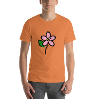 Emoji T-Shirt Store | Cherry Blossom emoji t-shirt in Orange