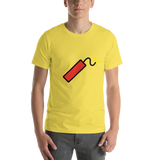 Emoji T-Shirt Store | Firecracker emoji t-shirt in Yellow