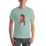 Emoji T-Shirt Store | Lipstick emoji t-shirt in Green