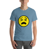 Emoji T-Shirt Store | Tired Face emoji t-shirt in Blue