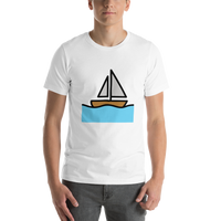 Emoji T-Shirt Store | Sailboat emoji t-shirt in White