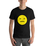 Emoji T-Shirt Store | Expressionless Face emoji t-shirt in Black