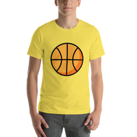Emoji T-Shirt Store | Basketball emoji t-shirt in Yellow