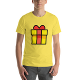 Emoji T-Shirt Store | Wrapped Gift emoji t-shirt in Yellow