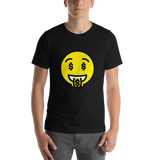 Emoji T-Shirt Store | Money-Mouth Face emoji t-shirt in Black