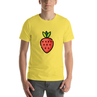 Emoji T-Shirt Store | Strawberry emoji t-shirt in Yellow