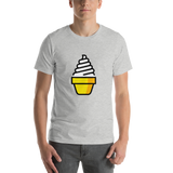 Emoji T-Shirt Store | Soft Ice Cream emoji t-shirt in Light gray