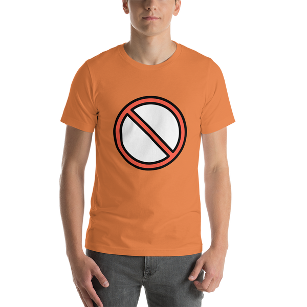 Emoji T-Shirt Store | Prohibited emoji t-shirt in Orange