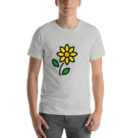 Emoji T-Shirt Store | Sunflower emoji t-shirt in Light gray