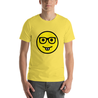 Emoji T-Shirt Store | Nerd Face emoji t-shirt in Yellow